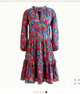 J crew floral printed dress in Liberty